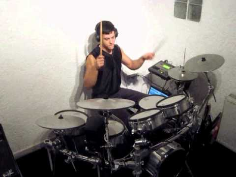 How electronic drums sound without an amplifier