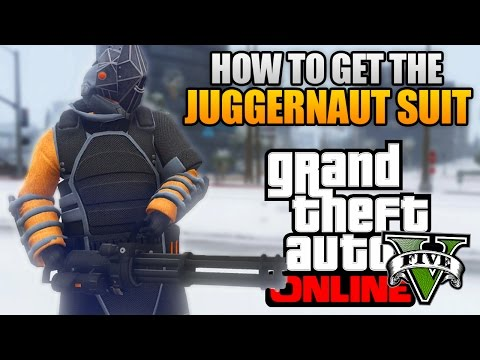 GTA 5 ONLINE - HOW TO GET THE NEW JUGGERNAUT SUIT! RARE JUGGERNAUT OUTFIT! (GTA 5 Glitches & Tricks)