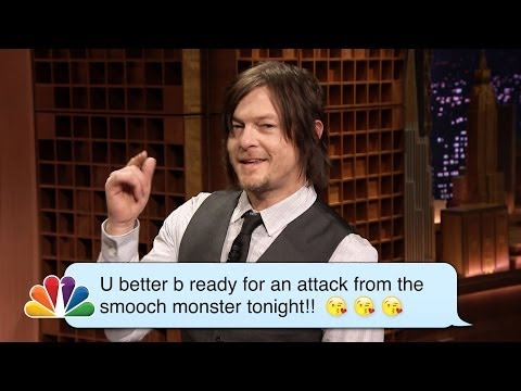 Norman Reedus (Daryl from The Walking Dead) Reads Romantic Texts ­Messages