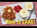 CAKE for BREAKFAST   Ultimate Candy Breakfast   Waffles, Eggs & Beans!