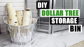 DIY DOLLAR TREE GLAM STORAGE BIN DIY Home Decor Organization