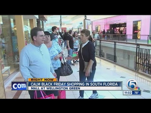 Calm Black Friday shopping reported at many malls