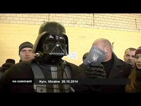 Ukraine elections: Darth Vader prevented of voting - no comment