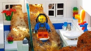 Volcano eruption at Lego City