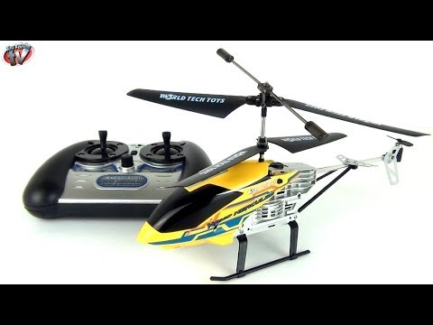 Nano Hercules 3.5CH Unbreakable Gyro IR Helicopter Toy Review. World Tech Toys