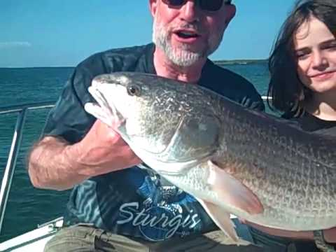 Kid Catches BIG REDFISH | Bradenton Fishing Charters | Fishing Videos