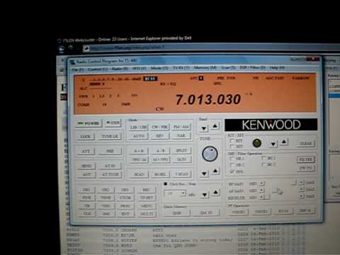 Kenwood TS-480 Remote Operation 2 (LU4FPZ)