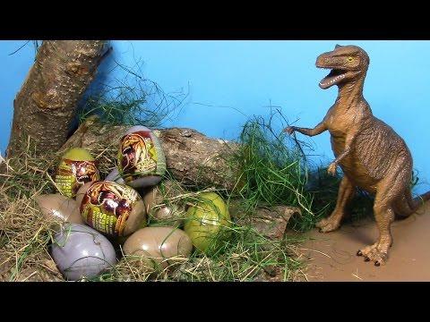 Dinosaur Surprise eggs! Huevos de dinosaurio ! ไข่ ไดโนเสาร์ ประหลาด ใจ! 놀라운 3D 퍼즐 공룡 계란!   공룡 서프라이즈