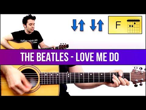 Aprende A Tocar LOVE ME DO Tutorial Guitarra Fácil! Sólo 3 Acordes! Como Tocar Beatles