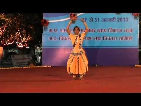 Dance By Deaf Artist Mansvi Piple Student Of Deaf Dumb And Blind School Sewa Mandir Indore video