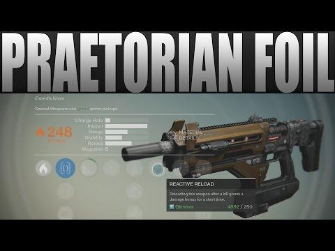 Destiny: Praetorian Foil legendary fusion rifle