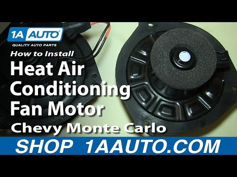 How To Install Replace Heat Air Conditioning Fan Motor 2000-07 Chevy Monte Carlo