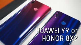 Huawei Y9 (2019) vs Honor 8X: Are these the SAME phones?!