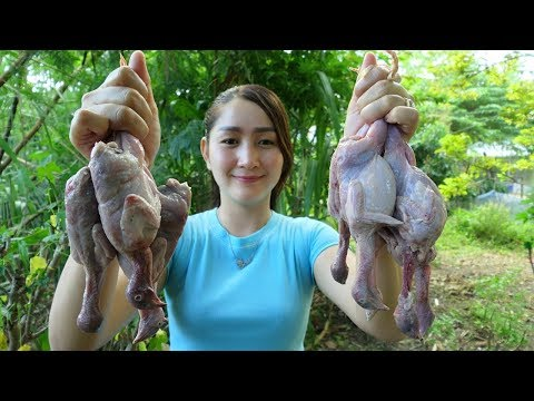 Yummy Quail Grilling With Young Green Tamarind Sauce - Quail Grilling Recipe - Cooking With Sros