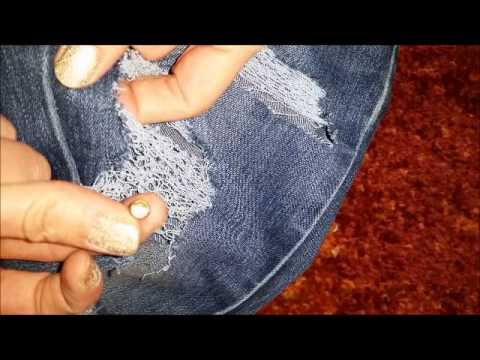 Diy destroyed jeans fetzenjeans mit bling bling - Ripped jeans selber machen ...