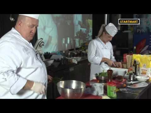 12.Французская кухня. Кальмар фаршированный творогом