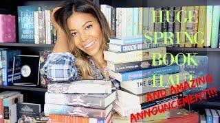 SPRING BOOK HAUL + AMAZING ANNOUNCEMENT!!