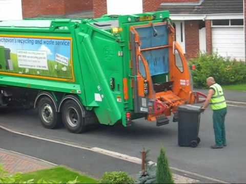 Bin/Trash Man Going Down Road