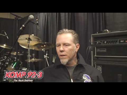Metallica's James Hetfield talks with Carlota of KOMP 92.3 in Las Vegas Part One