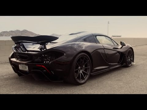 Black McLaren P1 - hot weather testing