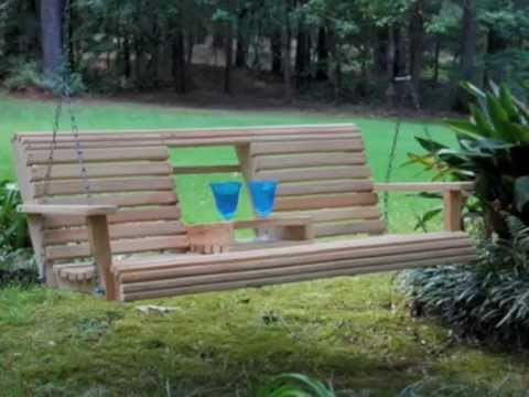 redwood porch swing plans