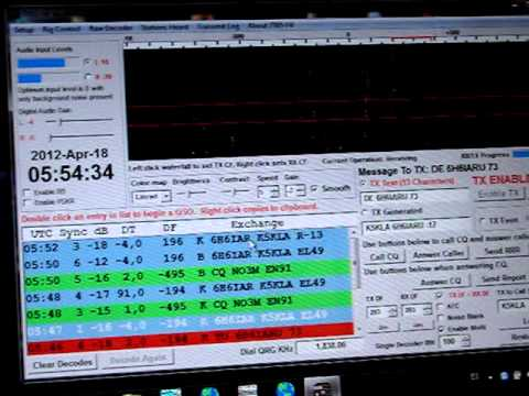6H6IARU -  K5KLA 160m JT65,  April 18, 2012