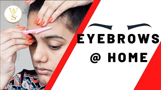 How I trim my eyebrows | With Love Sindhu