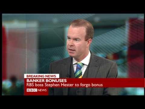 Stephen Hester from RBS declines his bonus Joe Lynam BBC.wmv