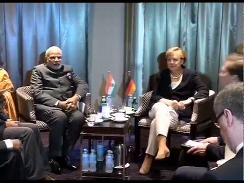 PM Narendra Modi meets German Chancellor Angela Merkel