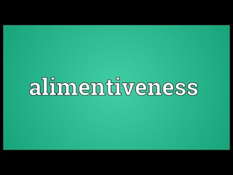 Header of Alimentiveness