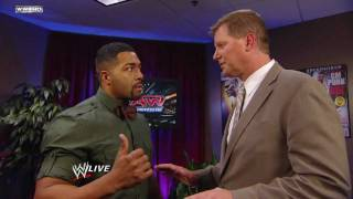 Raw: David Otunga offers legal advice to Christian, Cody Rhodes, Dolph Ziggler & Vickie Guerrero