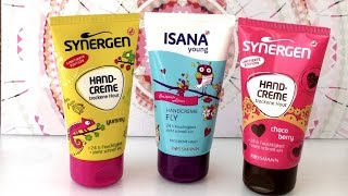Hand cream review - Drei Handcremes von Rossmann Limited Edition Isana Young, Synergen