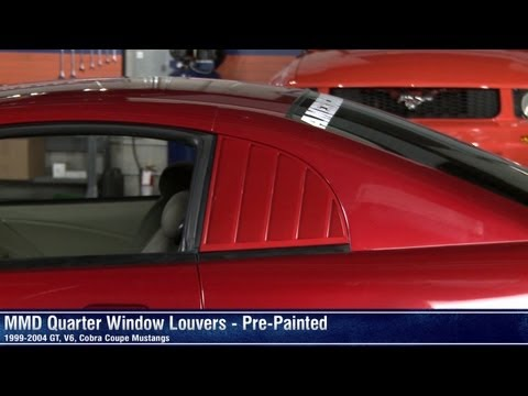 Mustang mmd quarter window louvers pre painted w for 05 mustang rear window louvers