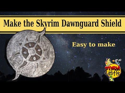 Make the dawnguard rune shield from skyrim