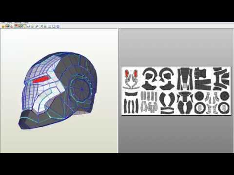 Como descargar Casco de Ironman y WarMachine para Pepakura Viewer (Link 2013)