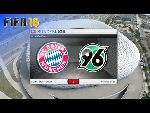 FIFA 16 - FC Bayern München vs. Hannover 96 @ Allianz Arena