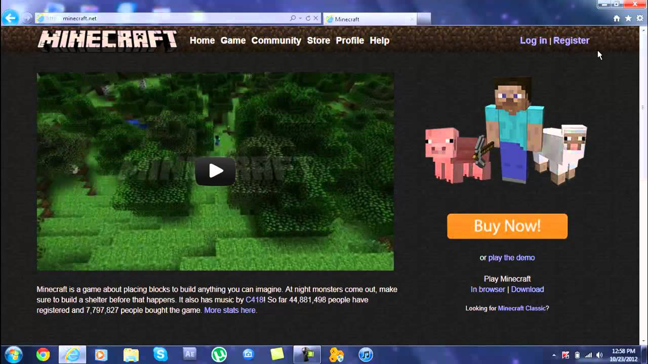 how to download minecraft with gift code and verify email