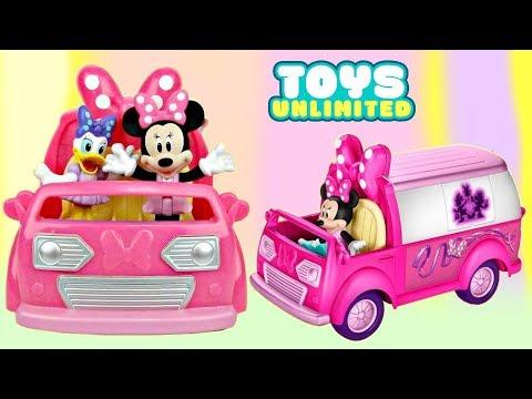 Disney Jr. MINNIE MOUSE Happy Helper Van Toy Playset, Pluto Daisy Donald Mickey Goofy Birthday /TUYC