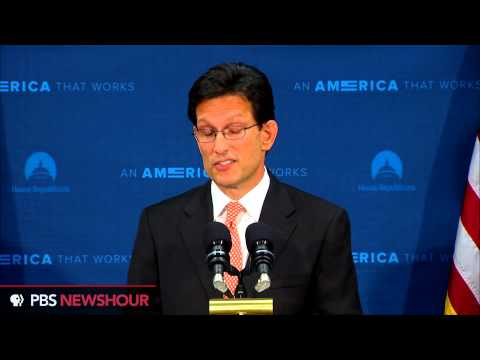 Eric Cantor announces he is stepping down from House leadership