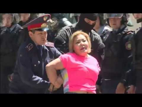 Dozens detained as Kazakh police break up anti-government protests.