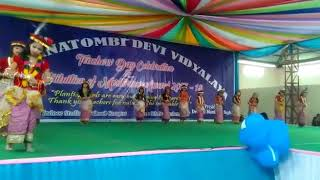 Cute Manipuri dance by RK Sanatombi students