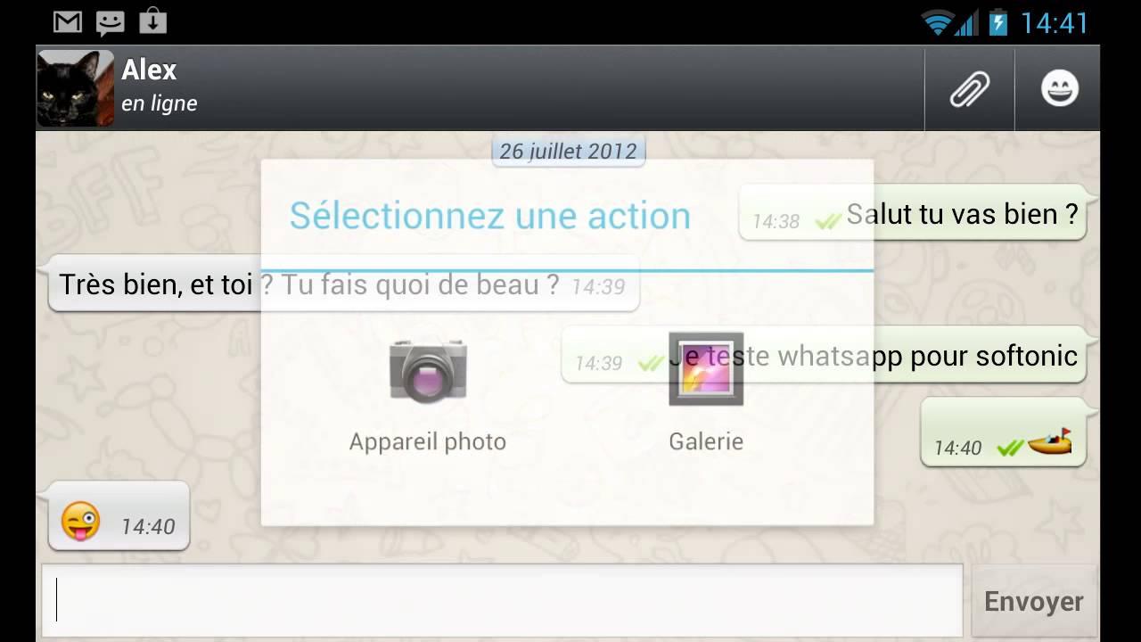 whatsapp sur android - comment  u00e7a marche