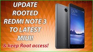 How to update rooted Redmi Note 3/Redmi 3s with TWRP recovery !