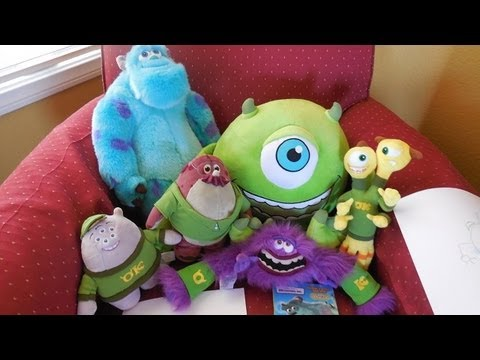 NEW Monsters University Plush Toys!! - YouTube