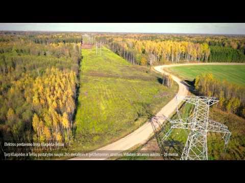 Naujoji 330 kV elektros perdavimo linija Klaipėda – Telšiai iš oro