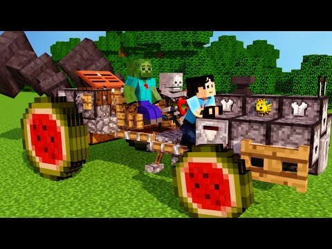 SkeleGUN & ZOMBIE! Sweet Ride Bro Minecraft Animation NikNikamTV