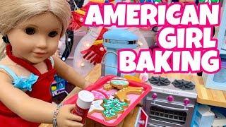 American Girl Doll Bakes for Christmas