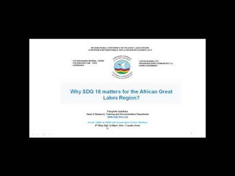 Webinar: Why SDG 16 matters to the African Great Lakes Region
