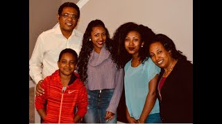 Pastor Demoz with HIs Beautiful FAmily - Yemdir-Chew TV - AmlekoTube.com