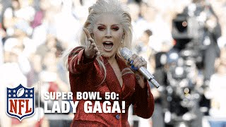 Lady Gaga Sings the National Anthem at Super Bowl 50 | NFL